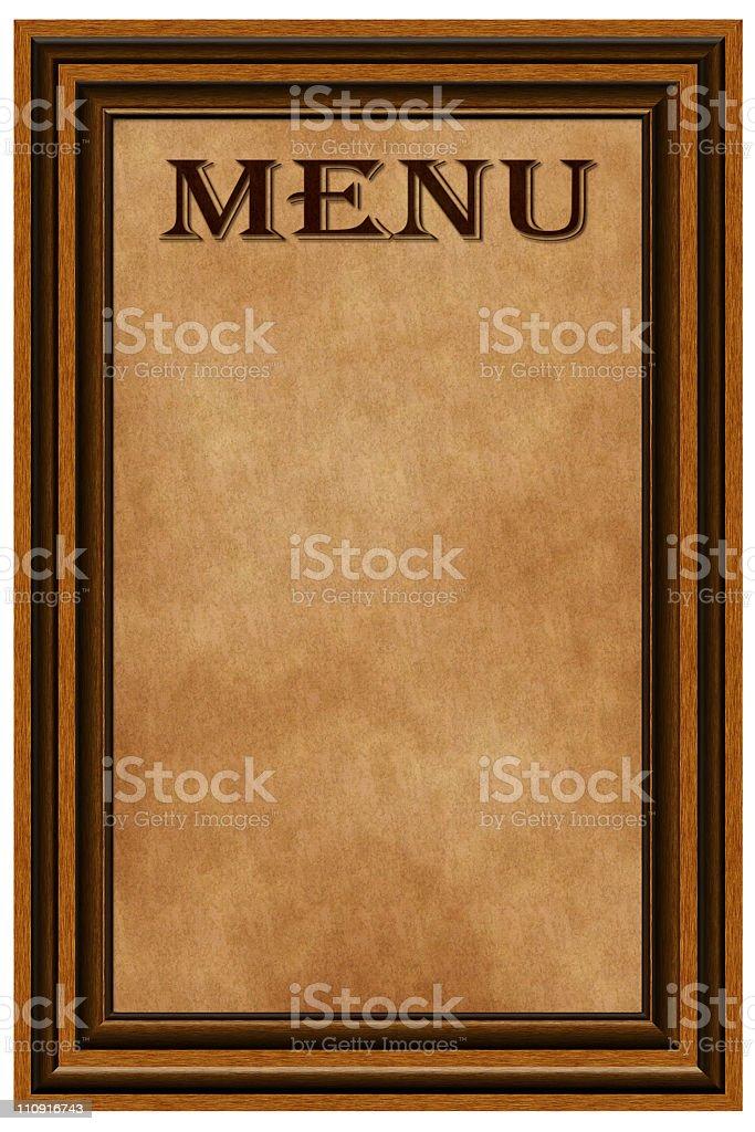 Blank menu royalty-free stock photo