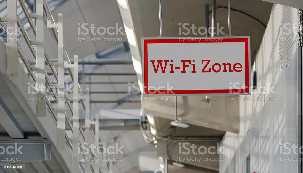 Blank message for 'Wi-Fi' message stock photo