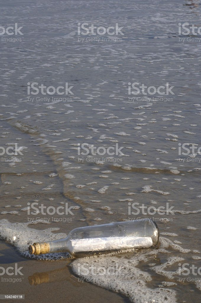blank message in a bottle stock photo