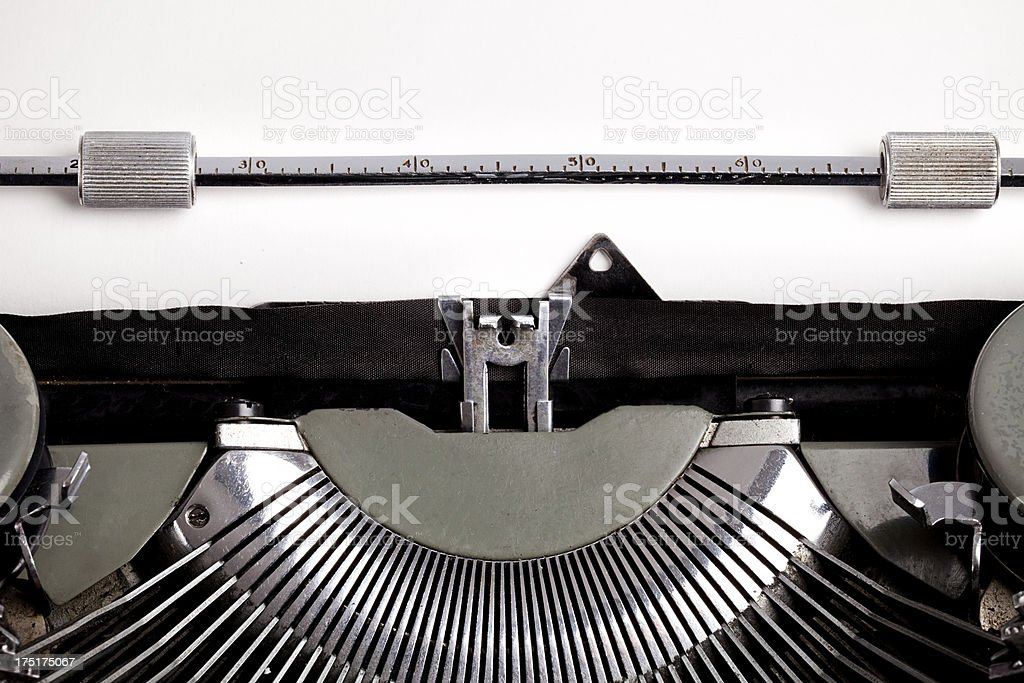 Blank message in old typewriter royalty-free stock photo