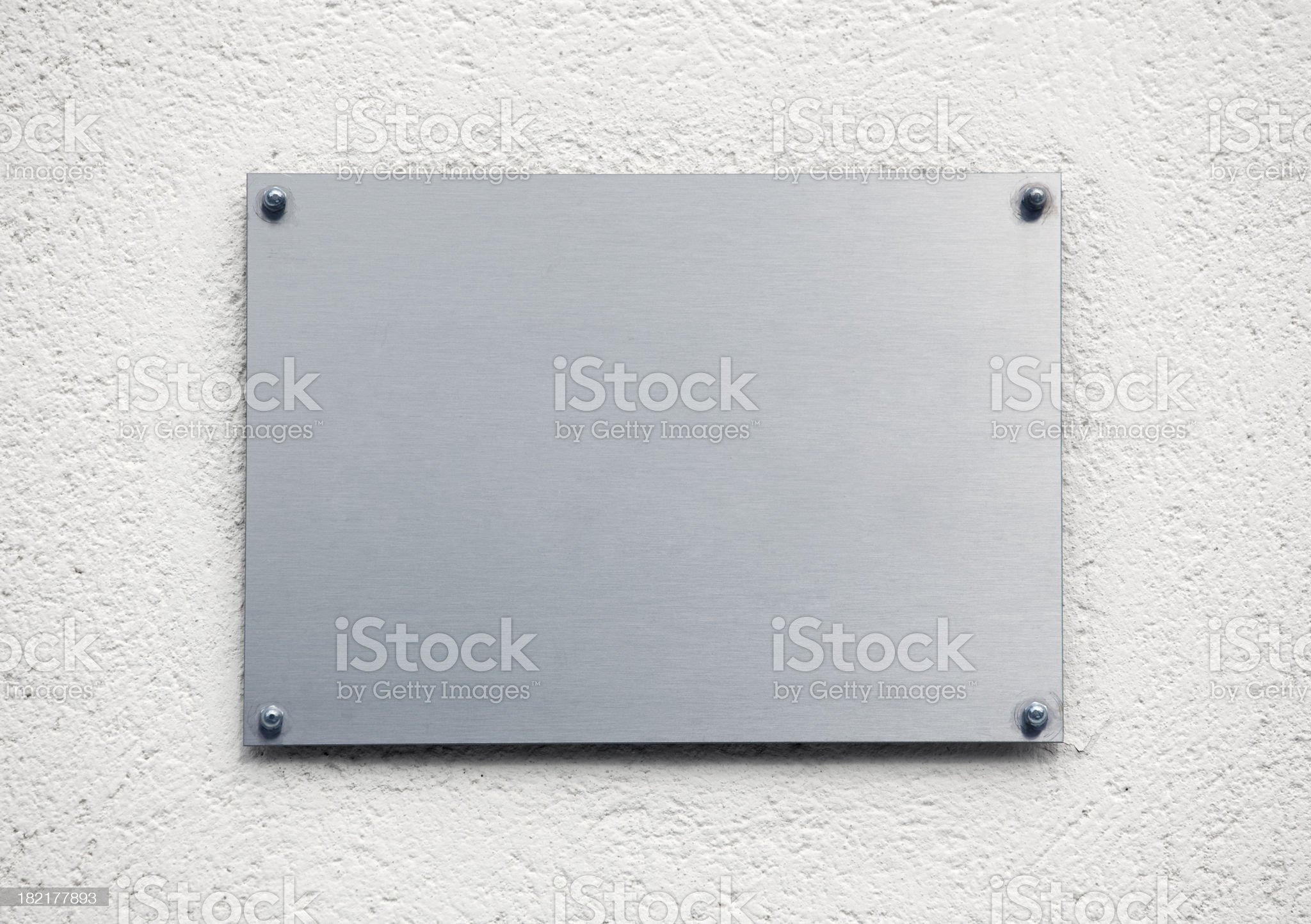 Blank metal plaque royalty-free stock photo