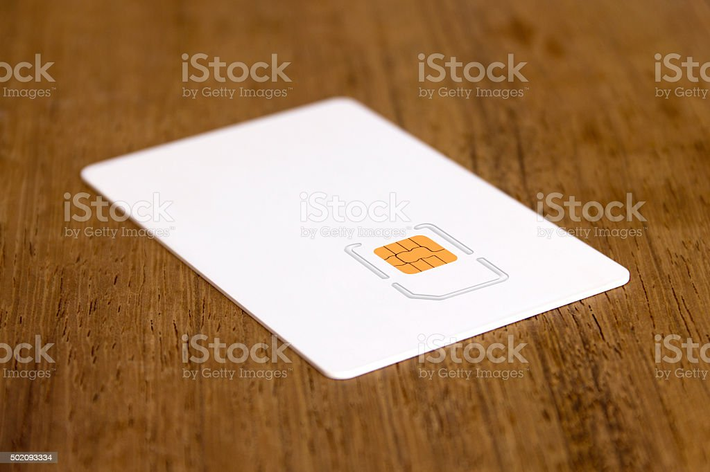 Blank micro sim card carrier stock photo