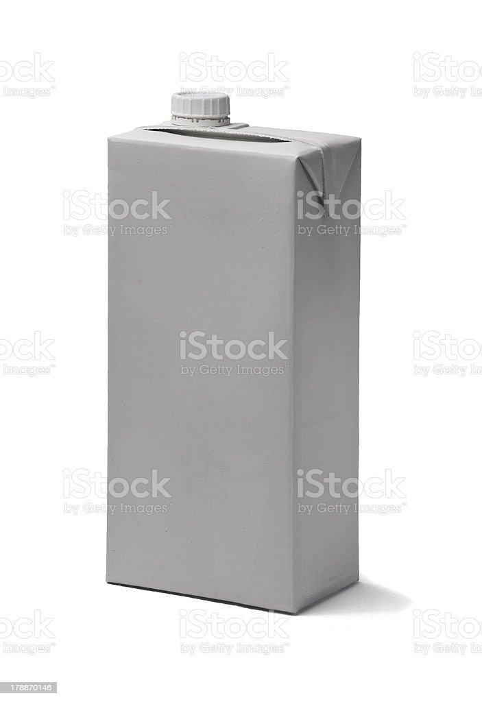 blank milk box royalty-free stock photo