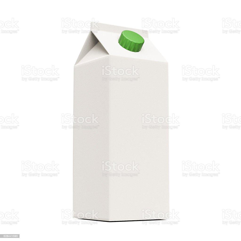 blank milk container stock photo