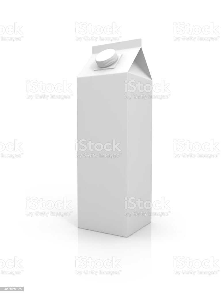 Blank milk package stock photo
