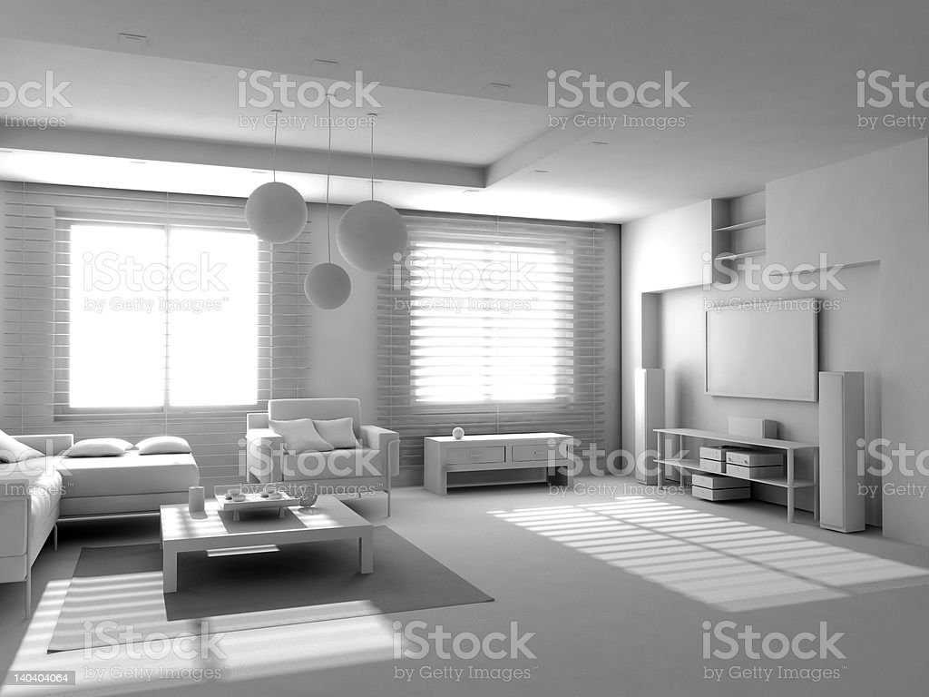 blank modern interior royalty-free stock photo