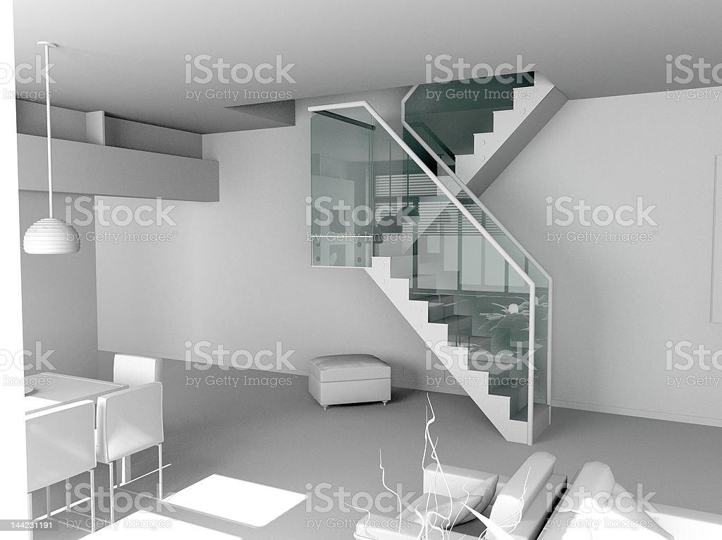 blank modern interior royalty-free stock photo