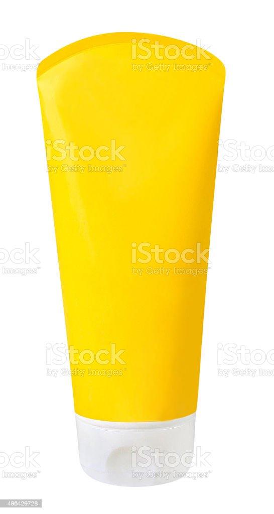 Blank moisturizing tube stock photo