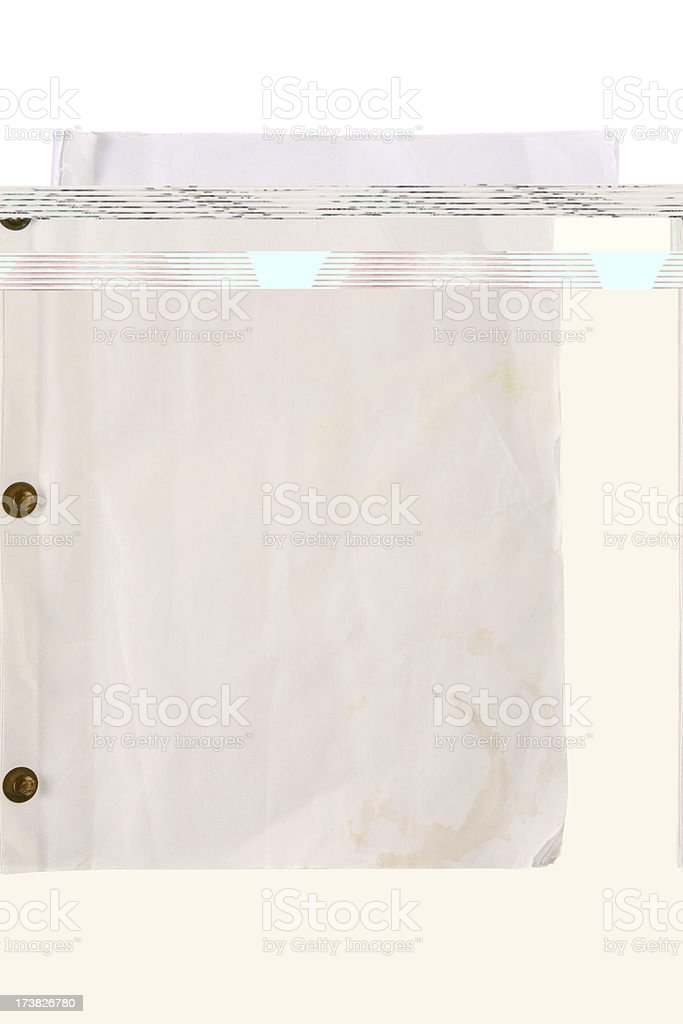Blank Movie Script royalty-free stock photo