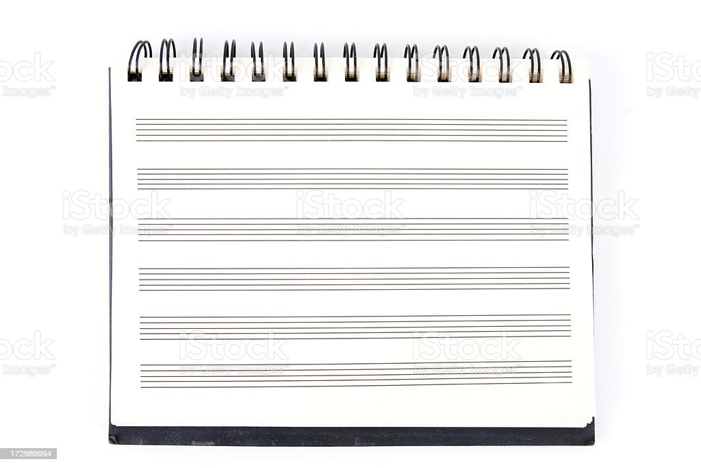 Blank Music Manuscript Pad. royalty-free stock photo