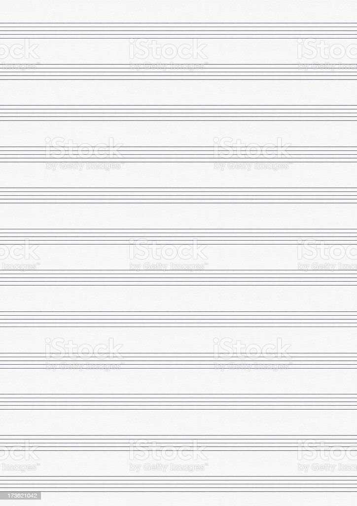 blank music sheet royalty-free stock photo