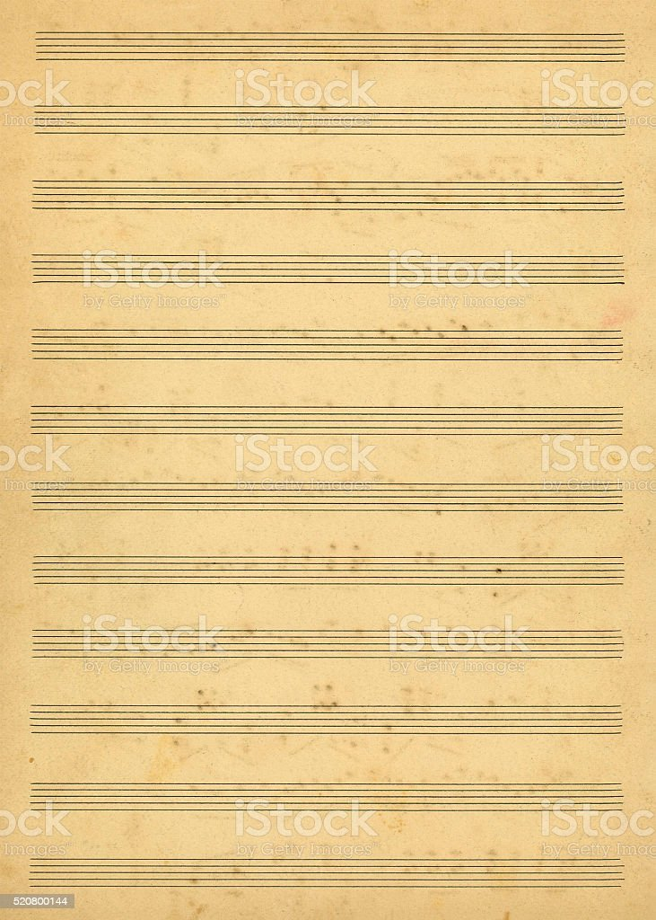 Blank music sheet stock photo