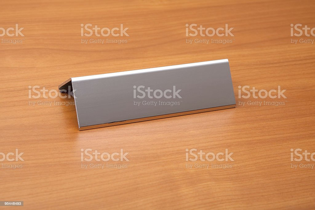 Blank Name Plate stock photo