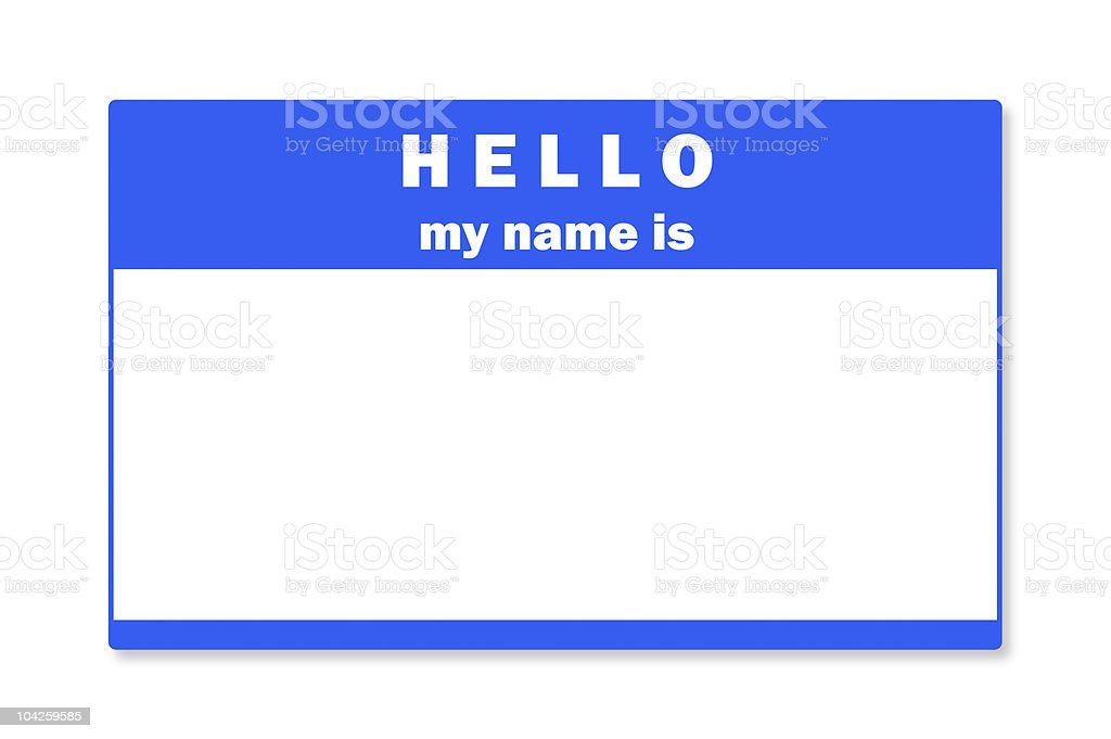 Blank name tag stock photo