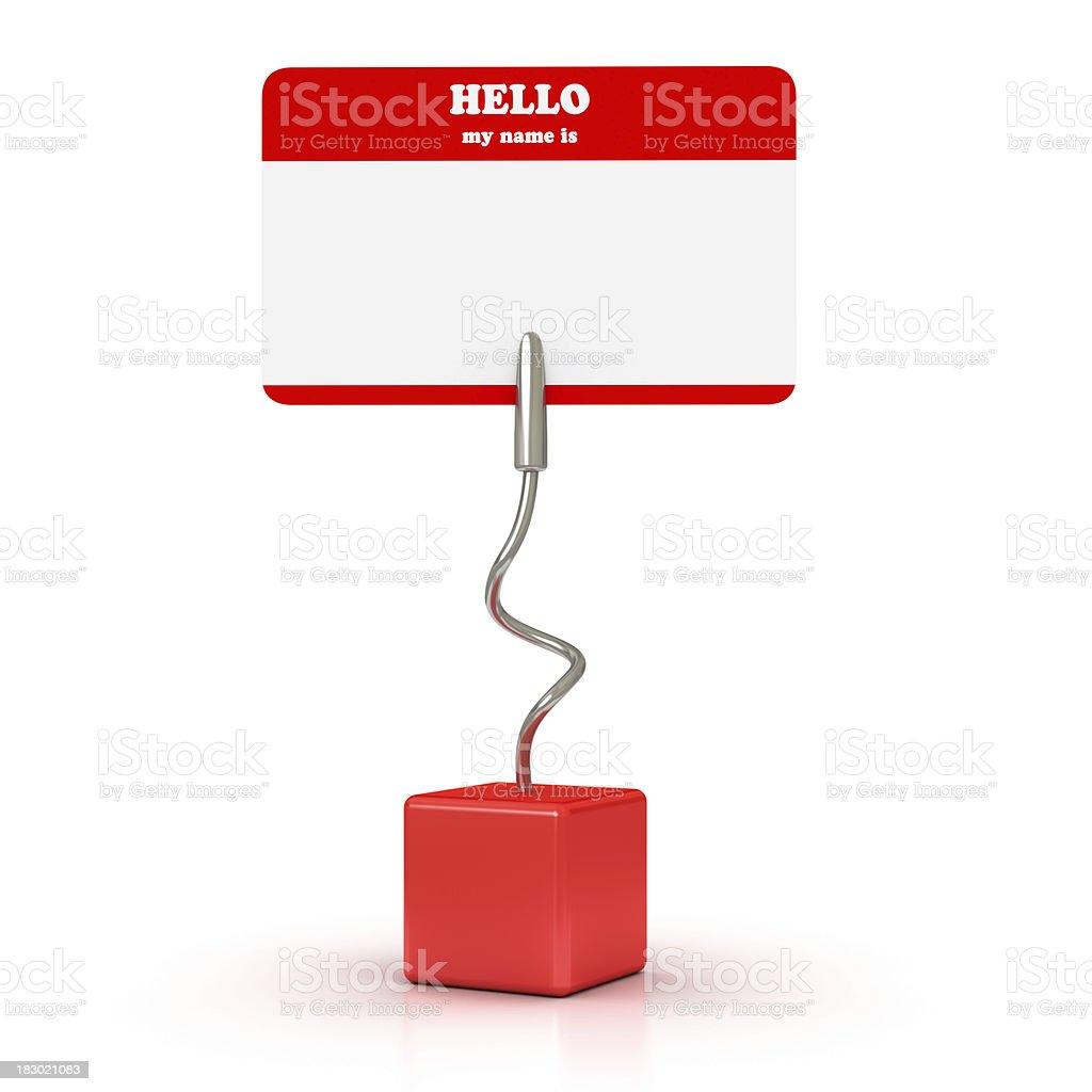 Blank Name Tag royalty-free stock photo