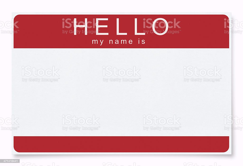 Blank Name Tag (Clipping Path) stock photo