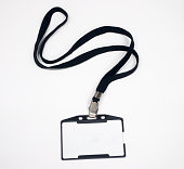 Blank Name Tag With Lanyard