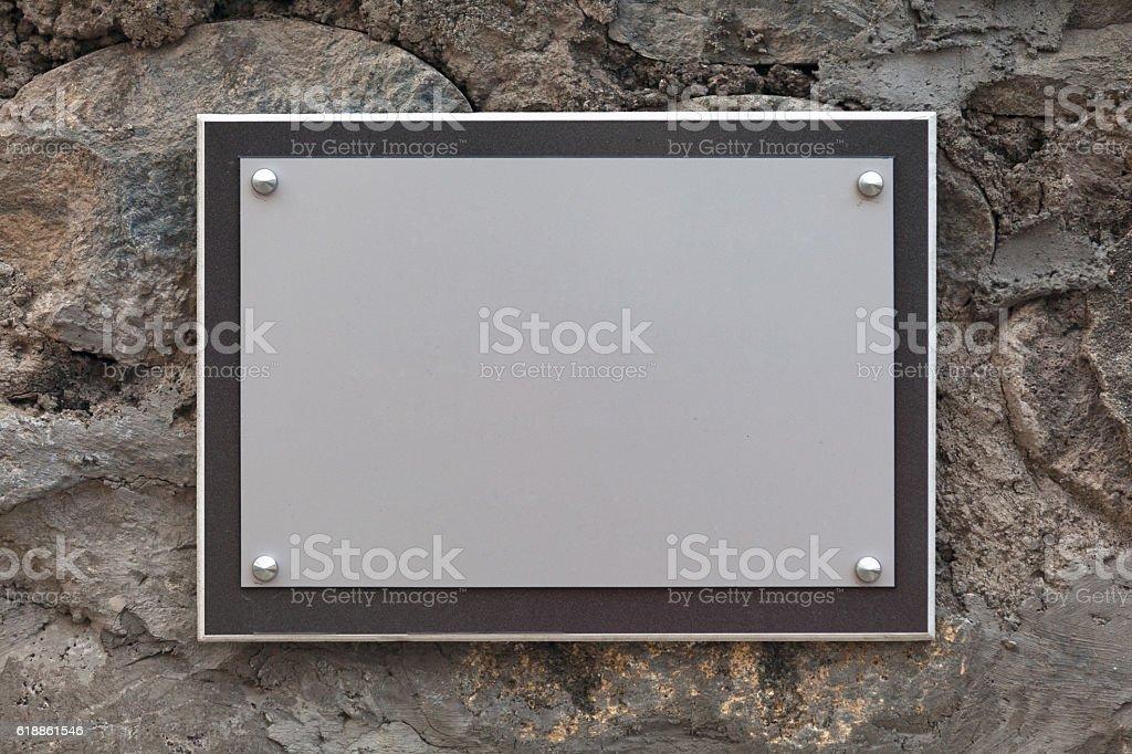 Blank nameplate stock photo