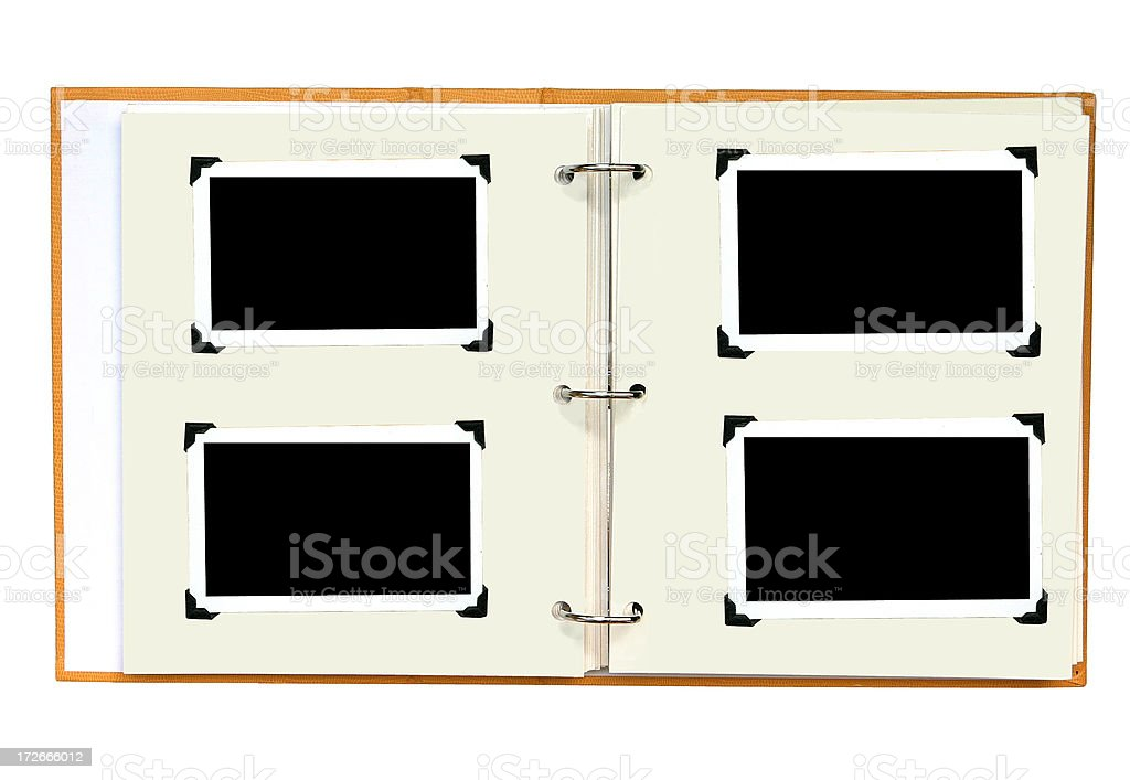 Blank New Photo Album stock photo