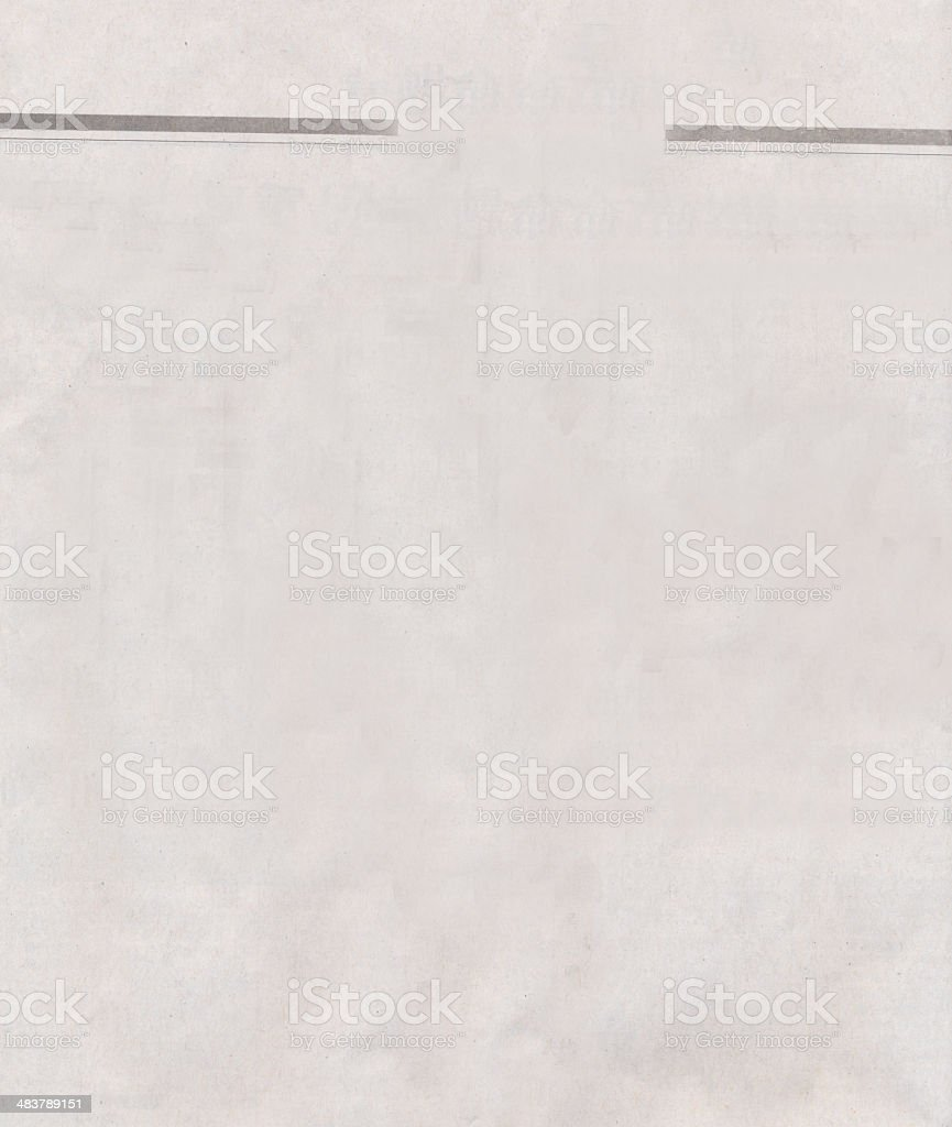 blank newspaper paper stock photo