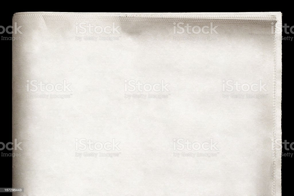 EXTRA! Blank Newspaper royalty-free stock photo