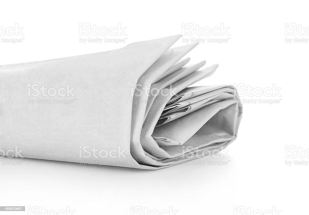 Blank Newspaper Roll royalty-free stock photo