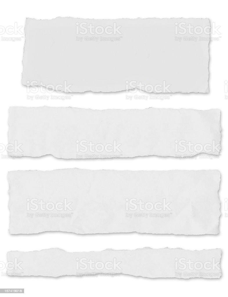 Blank newspaper tears - w/ drop shadow royalty-free stock photo