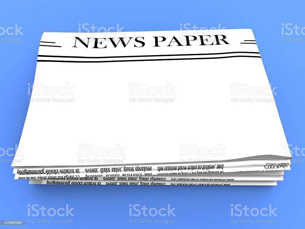 Blank Newspaper With Copy Space Shows News Media Headline stock photo