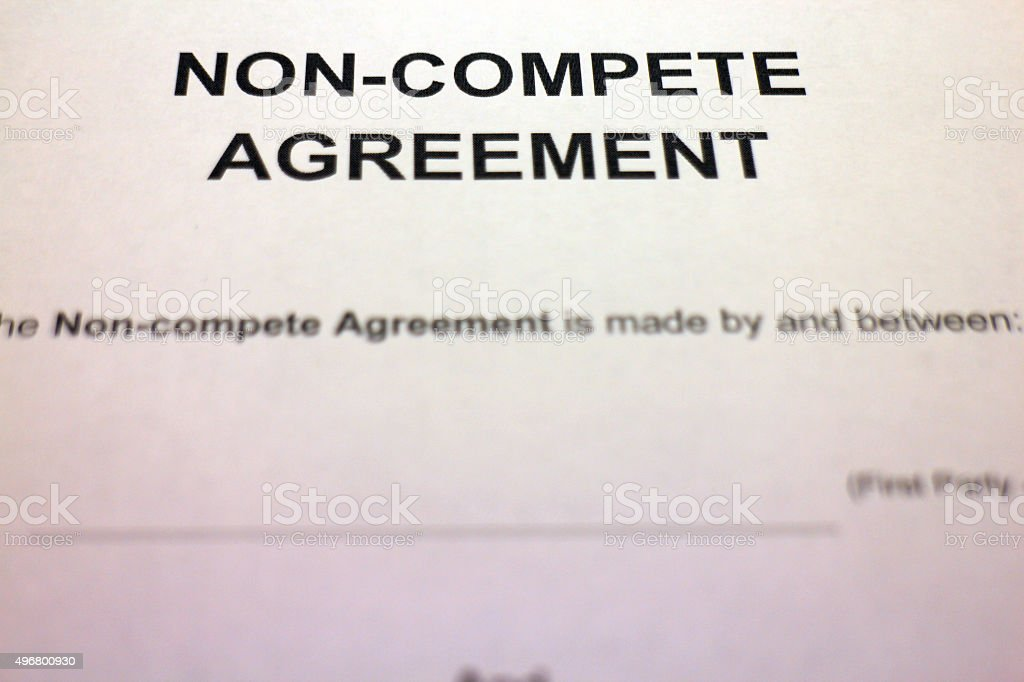 Blank Non-compete Agreement stock photo