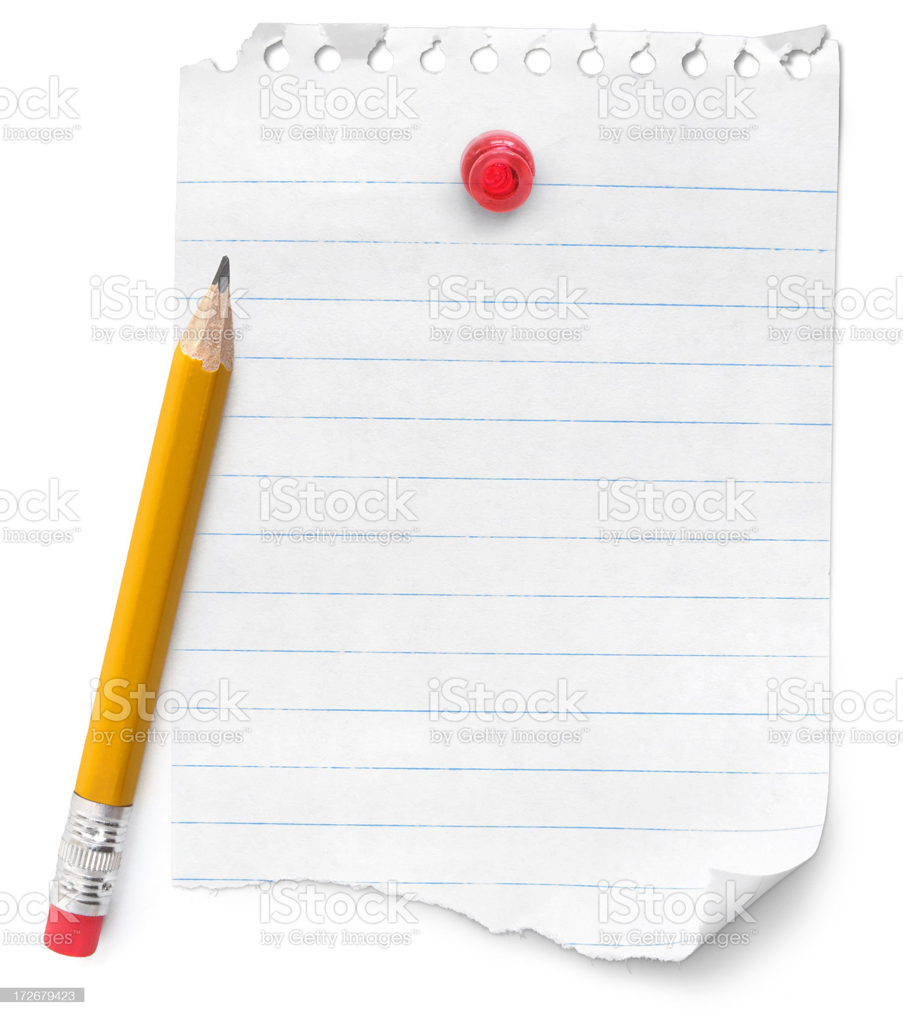 Blank Note and Pencil royalty-free stock photo