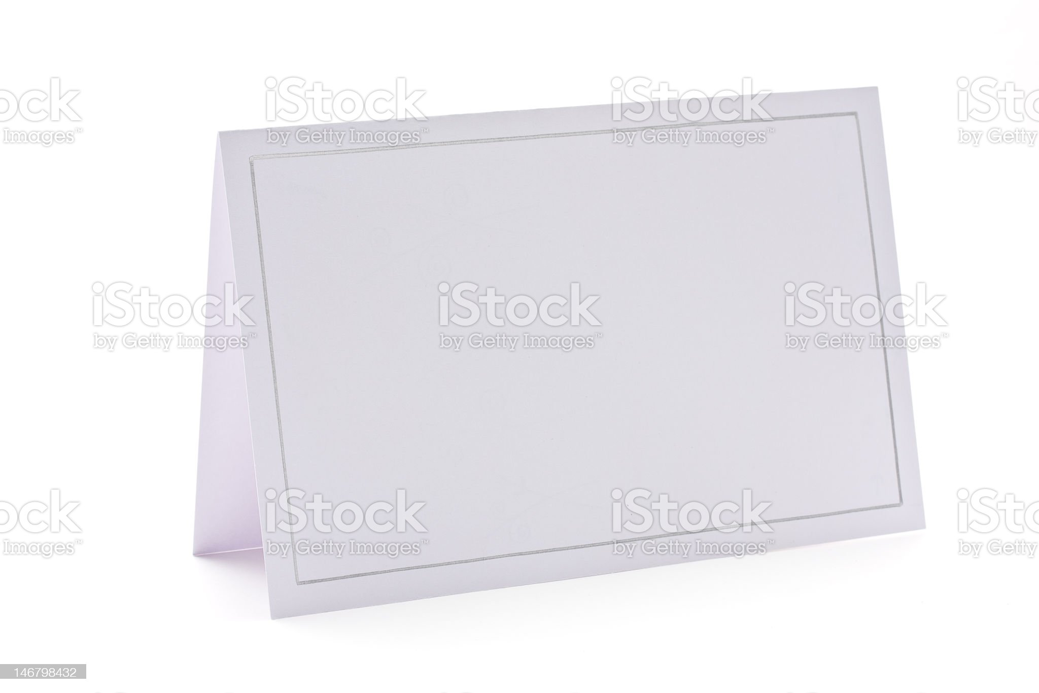 A blank note card on white background royalty-free stock photo