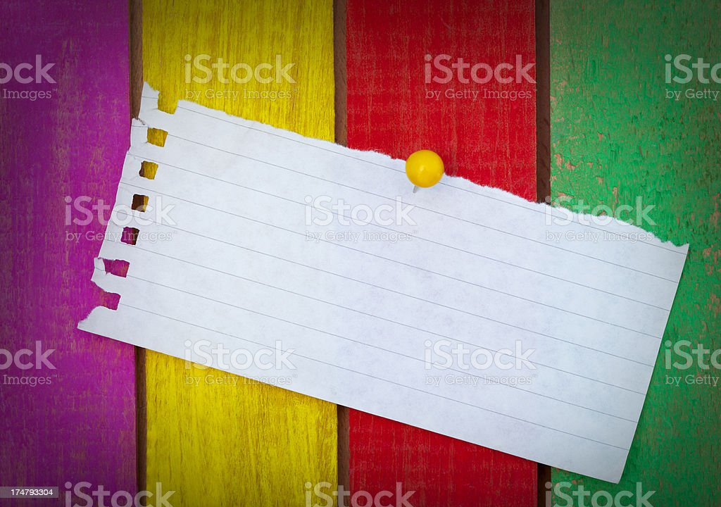 Blank note on cork message board stock photo