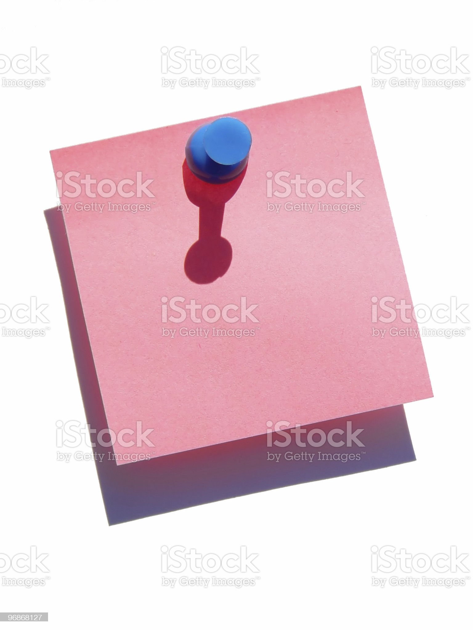 Blank note on white background royalty-free stock photo