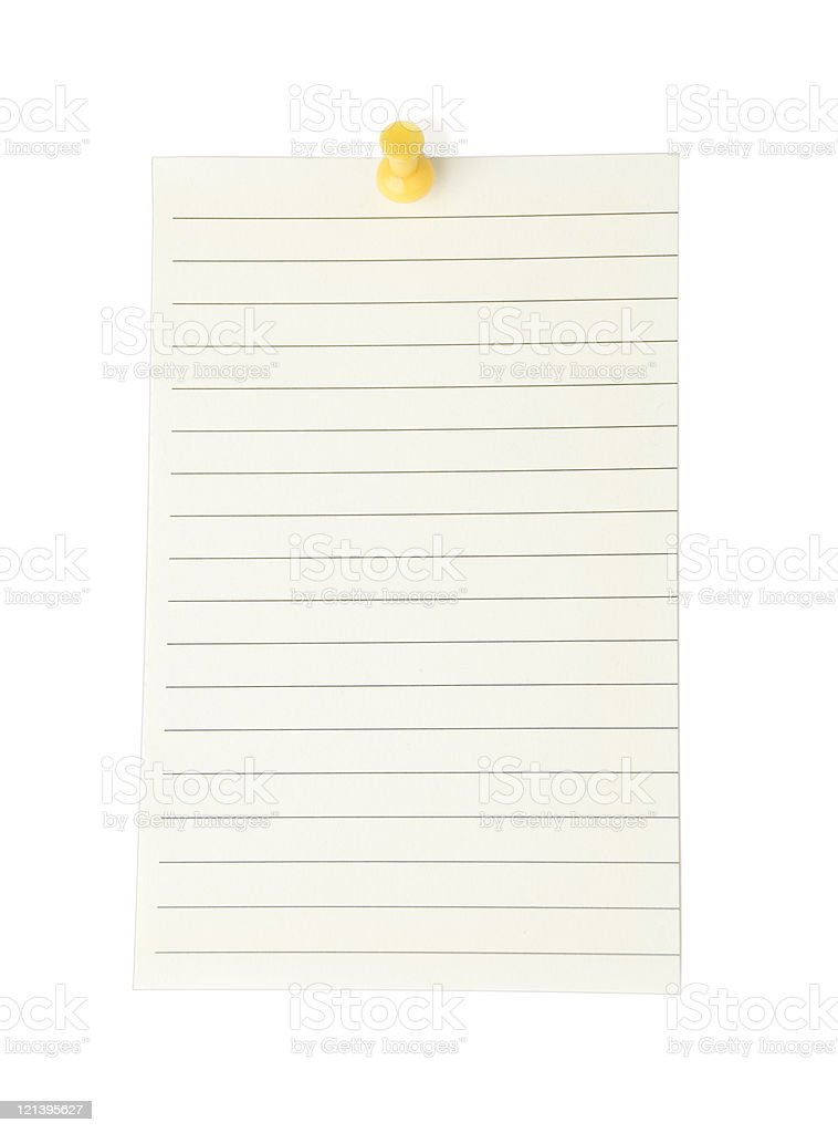 Blank Note on white royalty-free stock photo