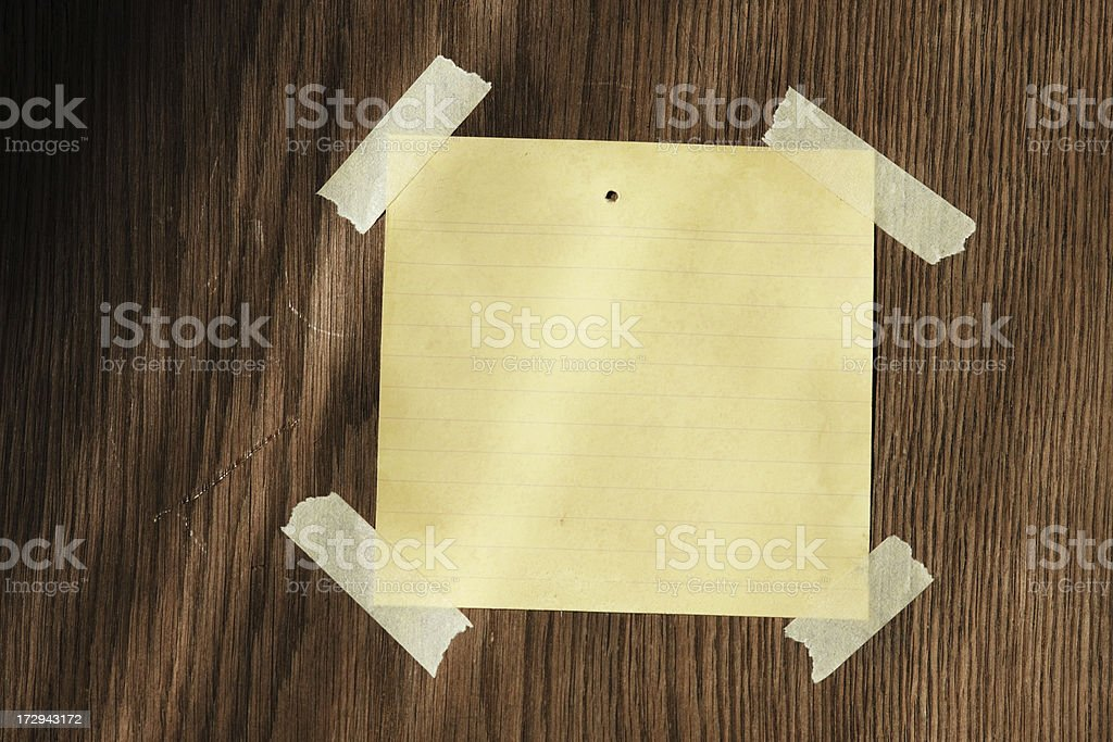 Blank note on wood background royalty-free stock photo