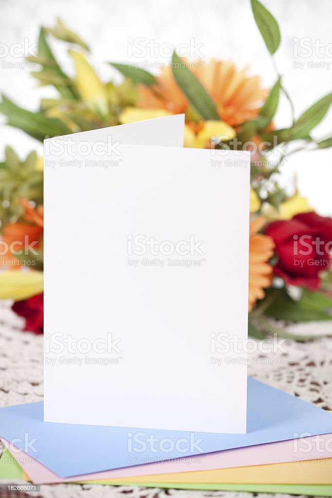 Blank Note or Greeting Card royalty-free stock photo