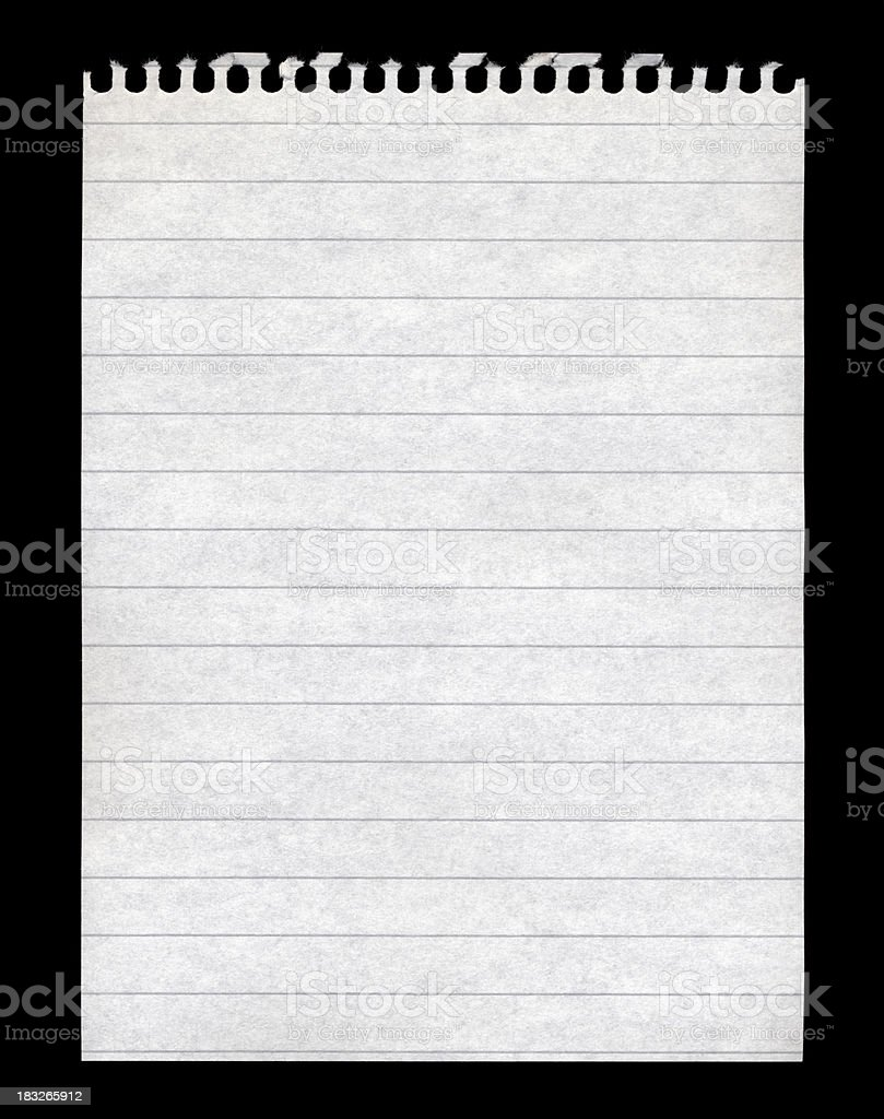 Blank note pad paper royalty-free stock photo