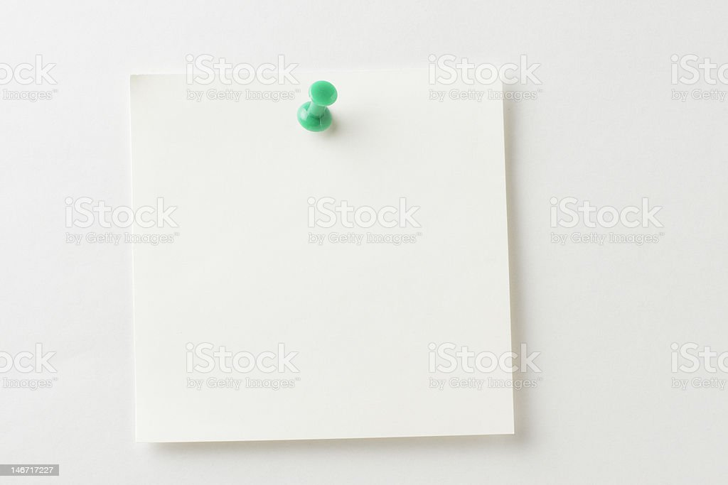 Blank note paper. stock photo