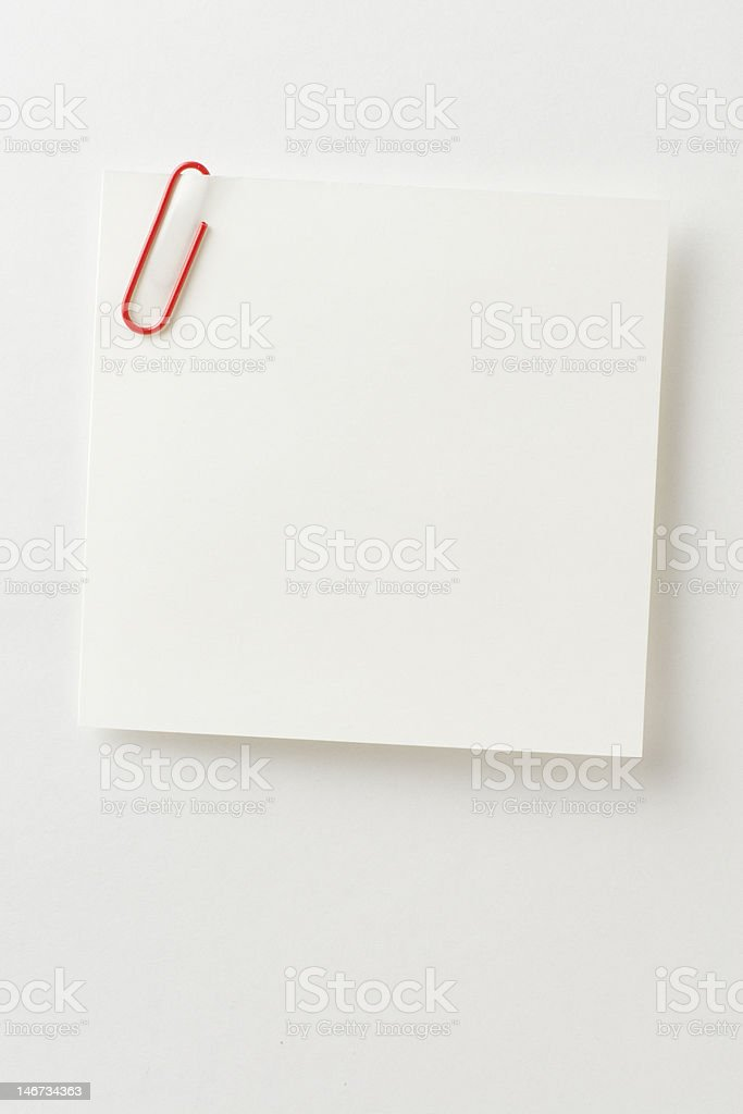 Blank note paper. royalty-free stock photo