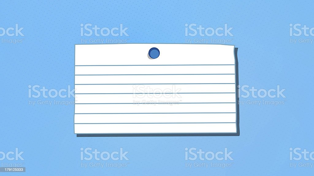 Blank Note With Thumbtack royalty-free stock photo
