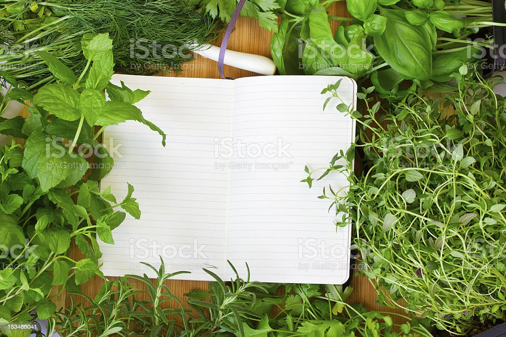 blank notebook for recipes royalty-free stock photo
