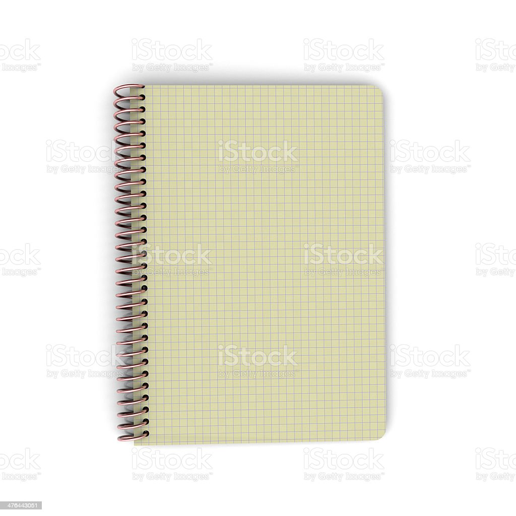 blank notebook paper royalty-free stock photo