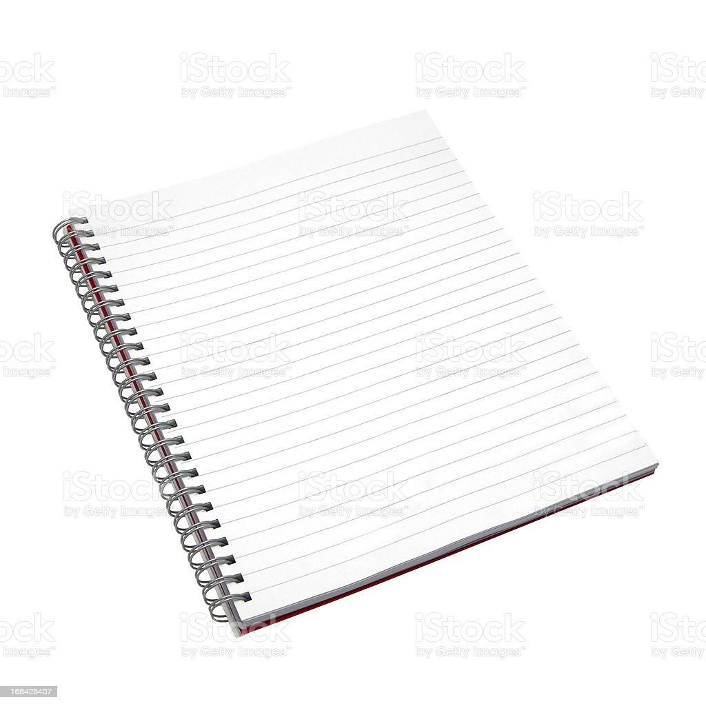 Blank notebook. royalty-free stock photo