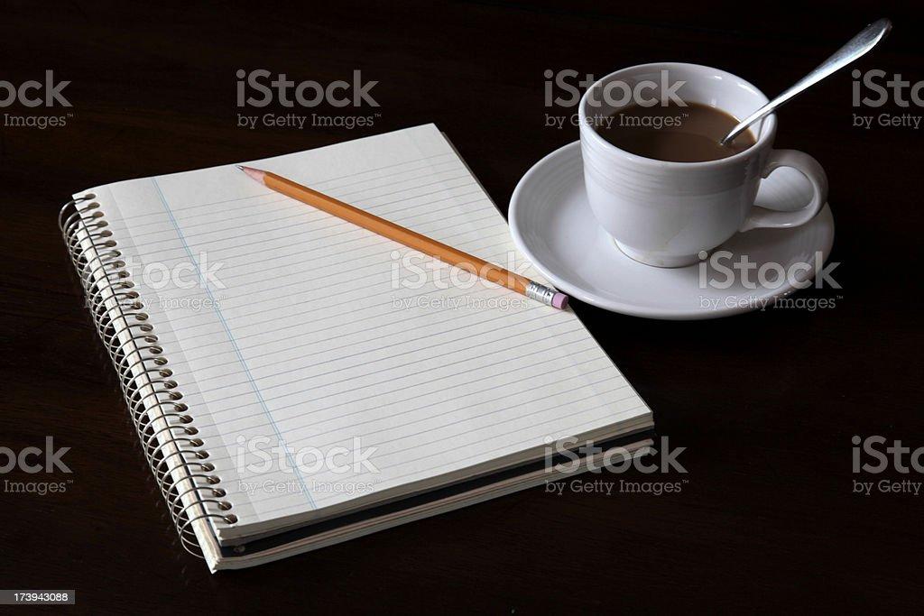Blank Notebook. stock photo
