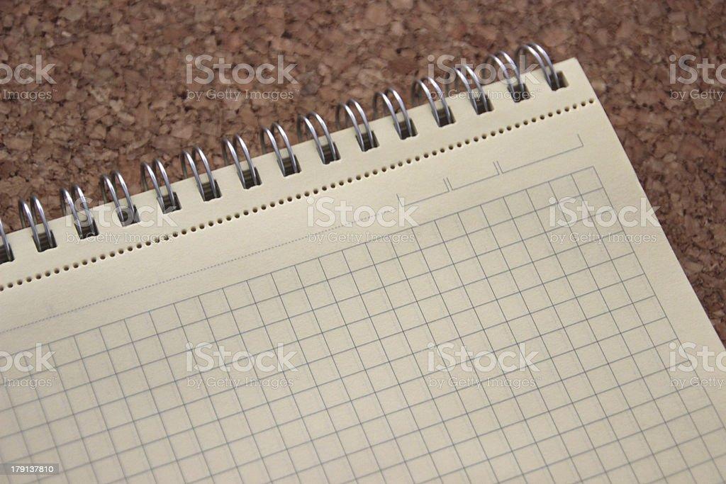 Blank notebook stock photo
