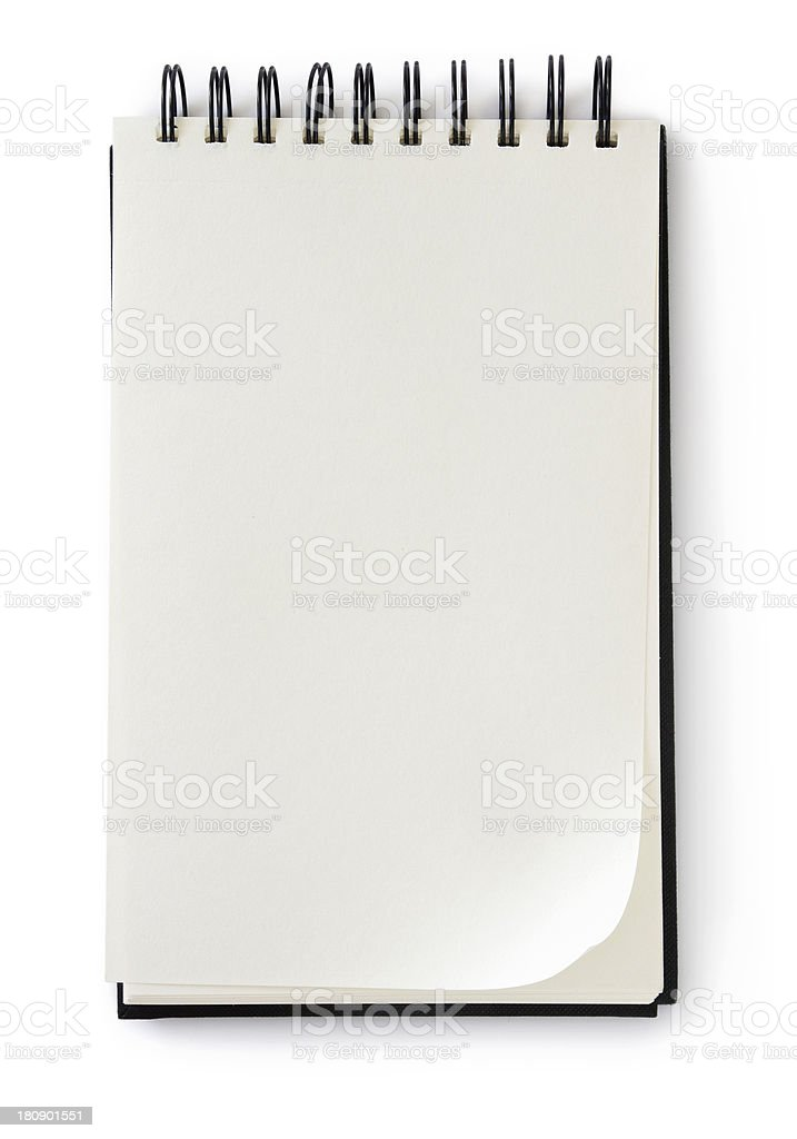A blank notebook ready to be written in  stock photo