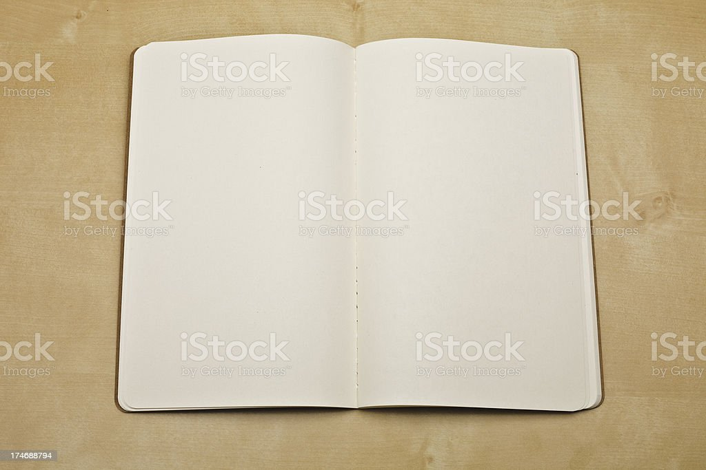 Blank notebook XXXL stock photo
