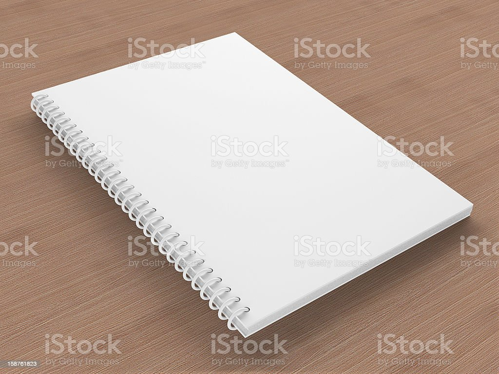 Blank Notebooks oon the table stock photo