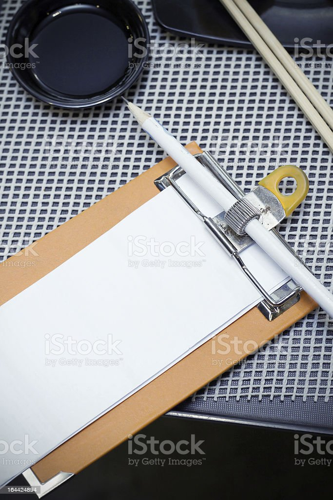 blank notepad for order royalty-free stock photo