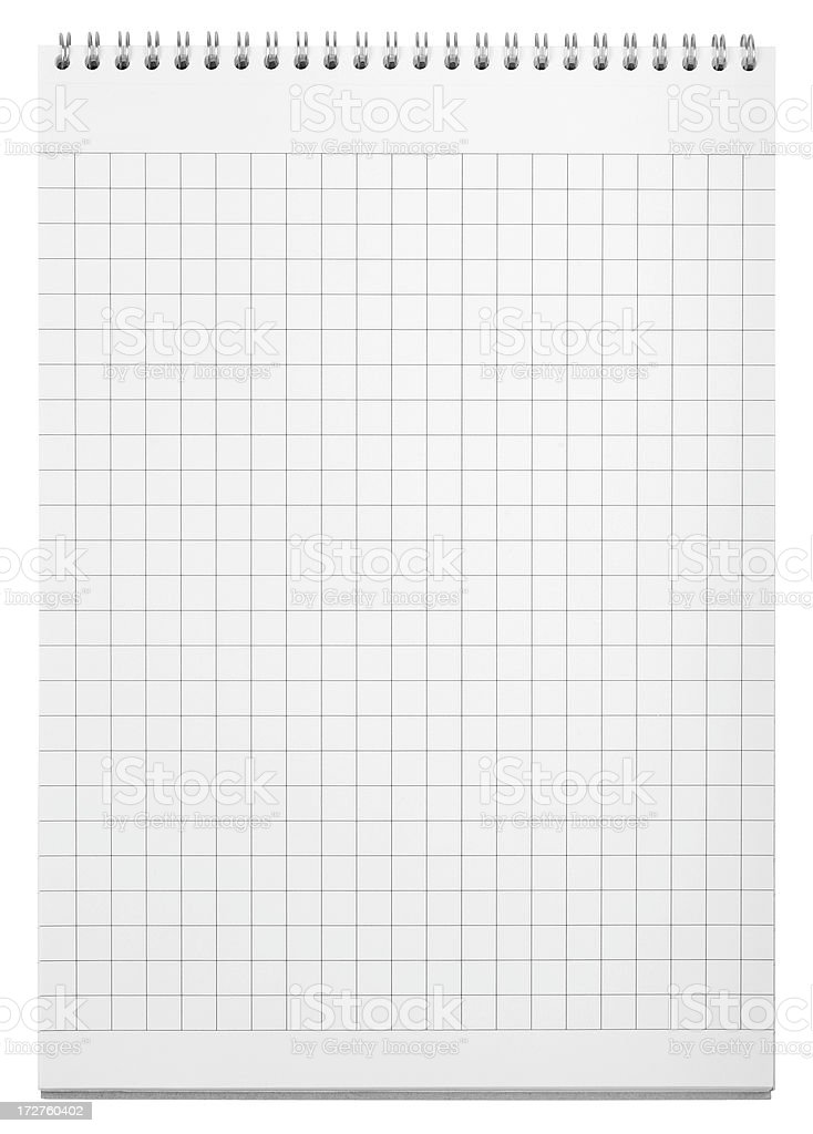 Blank notepad (clipping path), isolated on white background royalty-free stock photo
